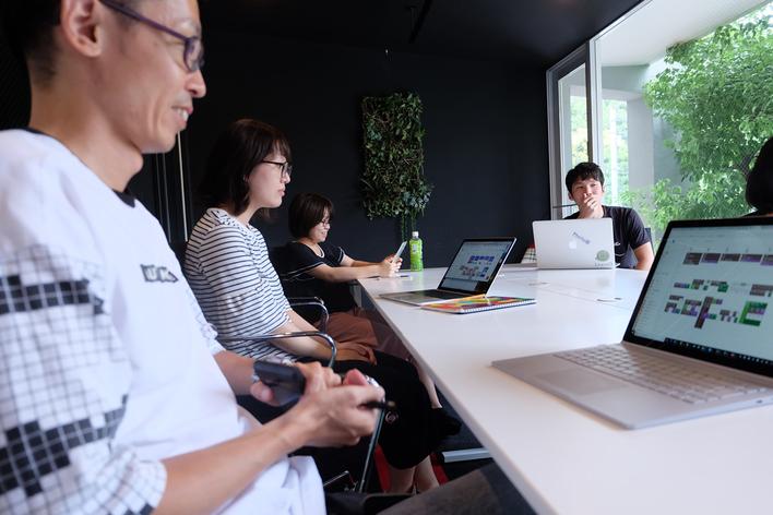 自社製品のセールス、社内外の新しいビジネスの企画書の作成、他チームと関わりながら、プロジェクトを進めていきます!