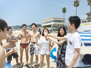 イベントにも参加可能です!みんなで海に行きました!