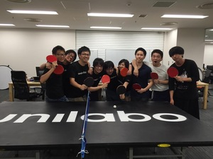 インターンメンバーも積極的に参加している「卓球部」です。