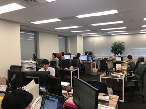 オフィス内の風景。静かな環境です。