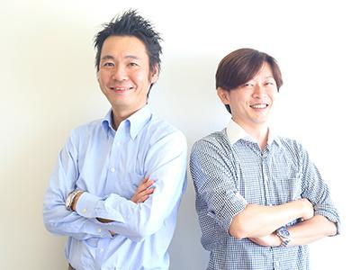営業インターンの教育を担当する当社の取締役 小池(右)と、営業マネージャーの是行(左)。人材業界での営業経験豊富な2人があなたをサポート!