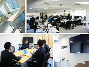 事業部や年齢や役職に囚われず社員同士のコミュニケーションをが頻繁に交わされているオフィス。仕事以外の相談やくだらない話もできるような社員が集まっています。