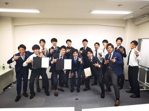 2018年 9月度日本一を獲得した際の集合写真。
