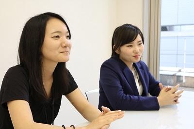 女性社員も活躍中!1年生から4年生までの成長意欲の高い方を募集します!