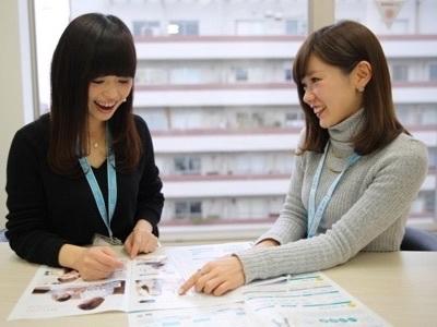 女性も大歓迎!上場企業のグループなので仕事の基本を丁寧に身につけることができます。