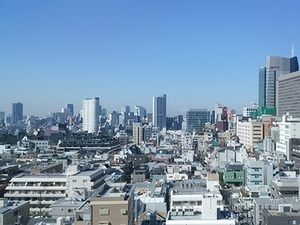 天気が良い日は東京を一望出来る素敵なオフィスです。