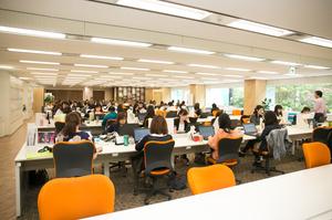 社内風景。働きやすい環境を整えています。