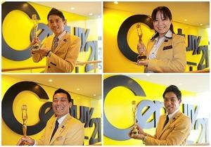 全国屈指の営業成績優秀に贈られる『センチュリオン』表彰者!当社からは18名輩出しており、日本でダントツの1番です☆