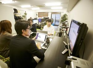 社内のMTG風景。社員との距離も近い環境があります。