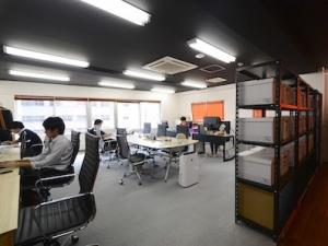 執務スペース。オフィスは渋谷駅から徒歩2分の好立地。