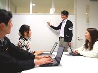 社内のミーティング風景。インターン生の意見もしっかり取り入れます!