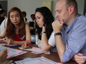 伝統工芸の業者の方X外国人留学生、というセッションを企画し、伝統工芸品の国際展開のお手伝いをしました