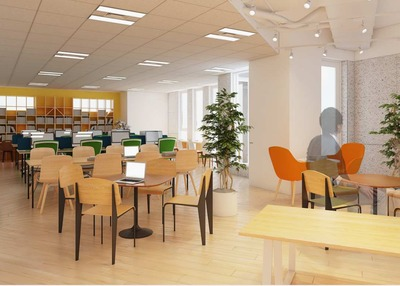 5月からオフィスが移転します。こちらが内装です。新オフィスで一緒に働きませんか?